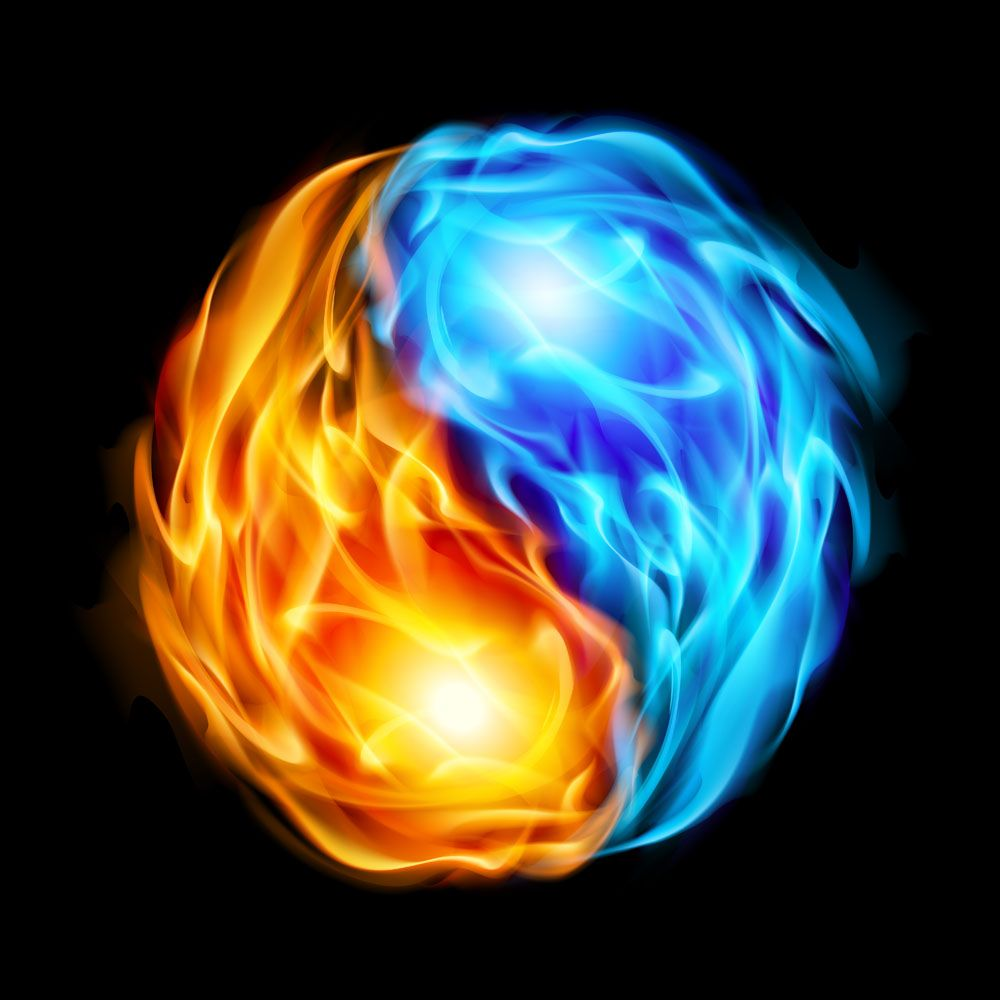 Cool fire and water yin yang symbol random stuff pinterest yin cool fire and water yin yang symbol biocorpaavc Images