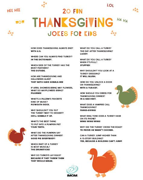 20 Fun Thanksgiving Jokes for Kids - iMom