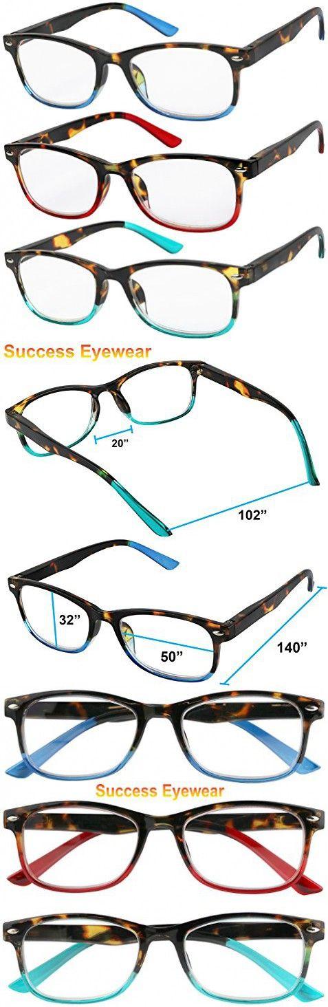 d42ea69f6e39 Reading Glasses Set of 3 Great Value Spring Hinge Readers Men and Women  Glasses for Reading 1.25