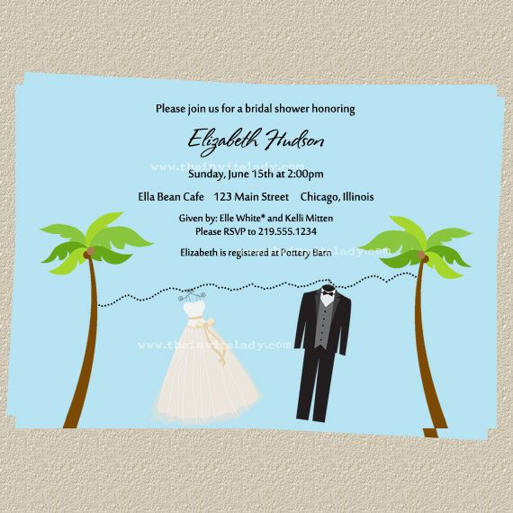 beach wedding shower invitations tropical by theinviteladyshop 900