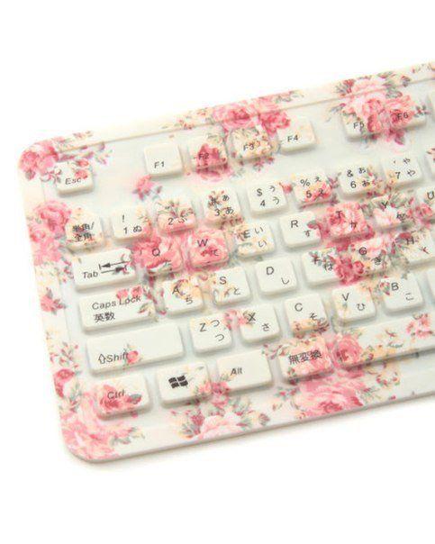 Floral keyboard. . . SO CUTE!