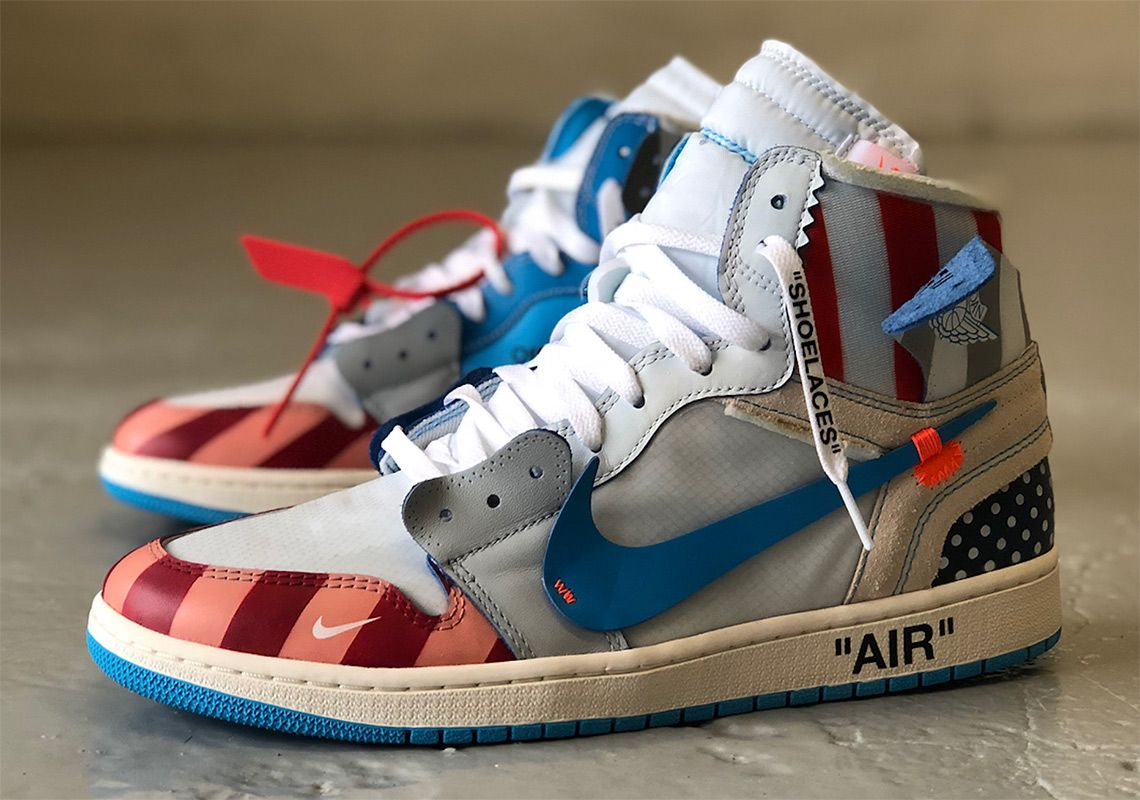 ad7c05eebf7 Mache Off-White Jordan 1 Parra Customs | SneakerNews.com White Nike Shoes,