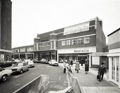 Rear Of Bentalls Worthing 1976 Street View Old Pictures