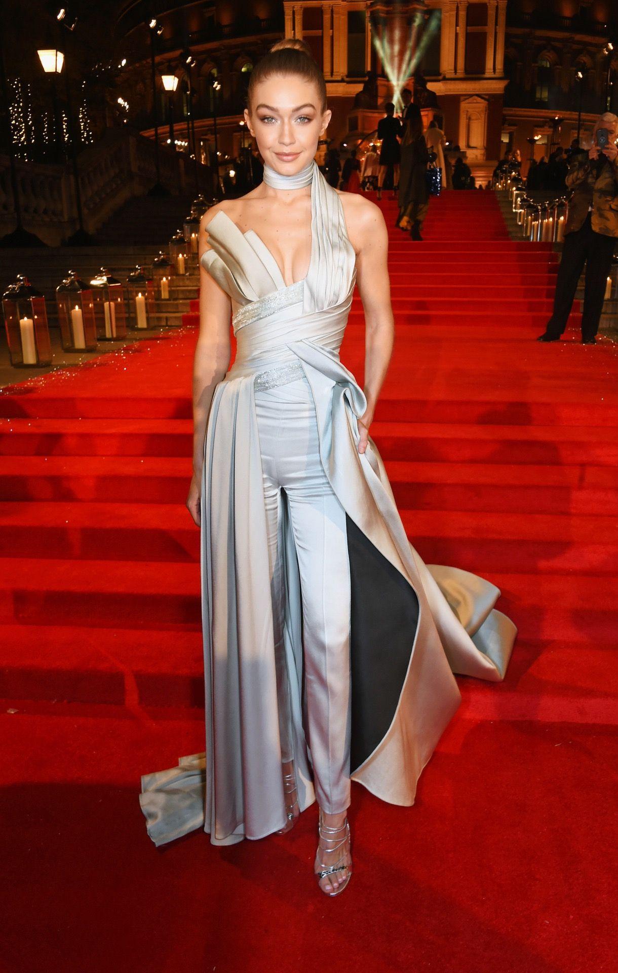Gigi Hadid & Bella Hadid Fashion, Gigi Hadid at British Fashion Awards 2016 in...