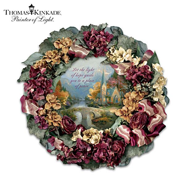 Thomas Kinkade Chapel Inspirations Wreath Thomas Kincaid Thomas