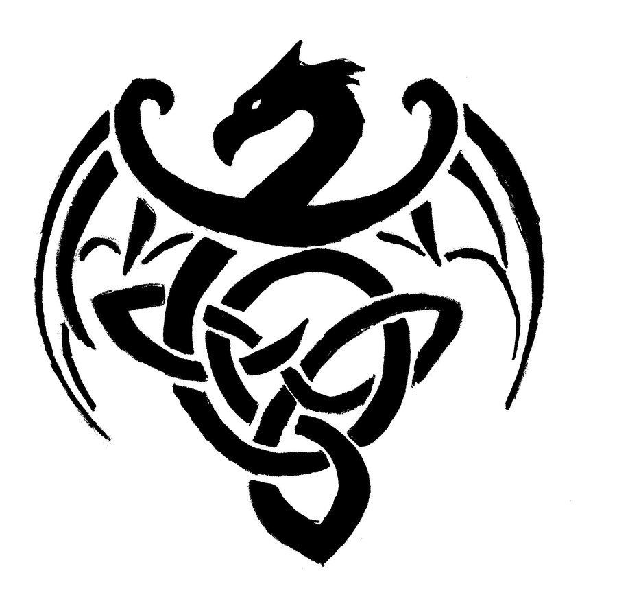 Simple Celtic Dragon Designs Simple celtic dragon (med ...