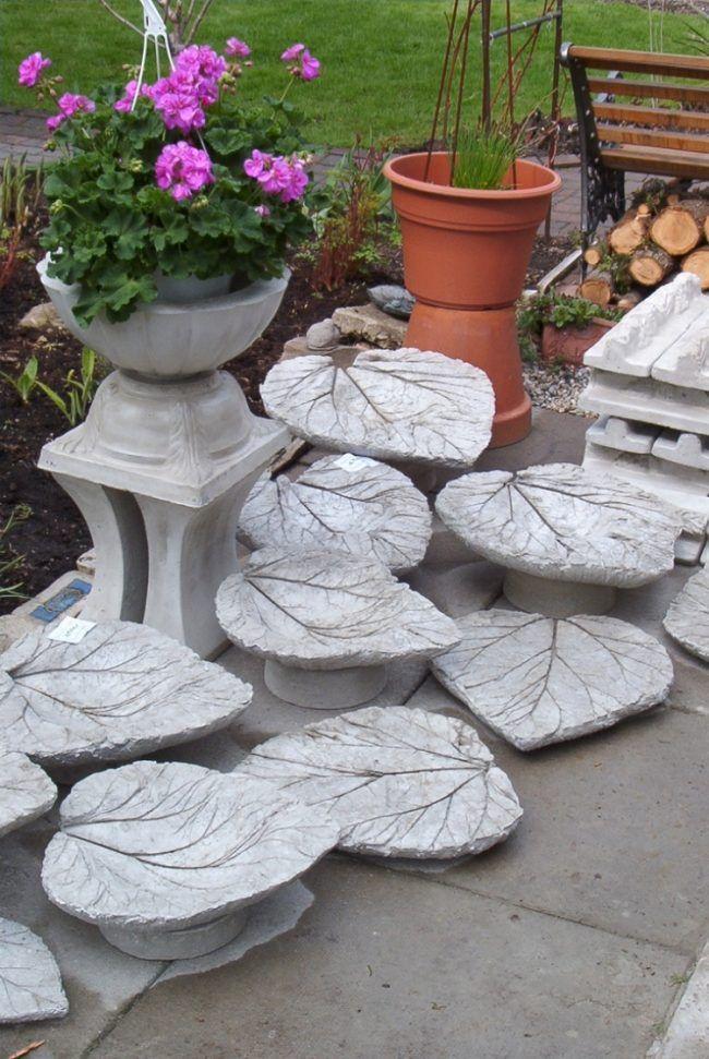 gartendeko-beton-rhabarberblaetter-selbstgemacht | gefäße aus, Garten und erstellen