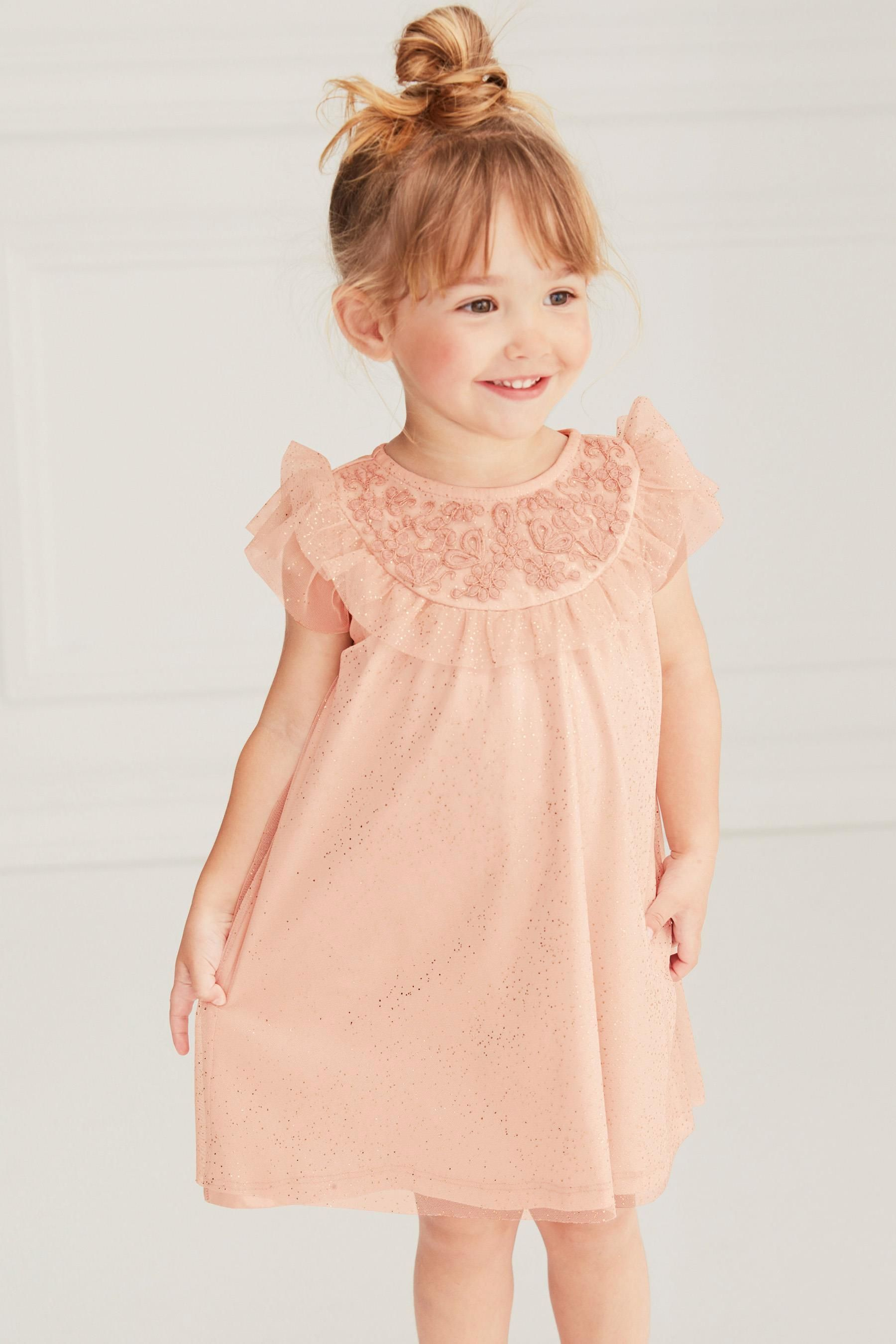 Buy Pink Yoke Party Dress (7mths-7yrs) from Next Australia  Girls