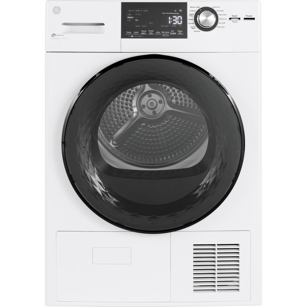 Ge 4 1 Cu Ft 240 Volt White Electric Ventless Dryer Capacite