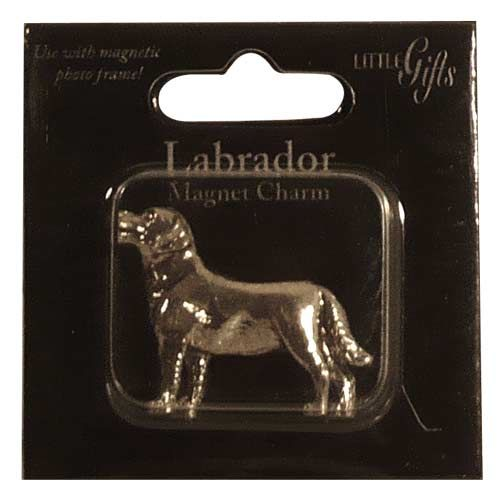Magnet Charm - Silver Lab $3.95