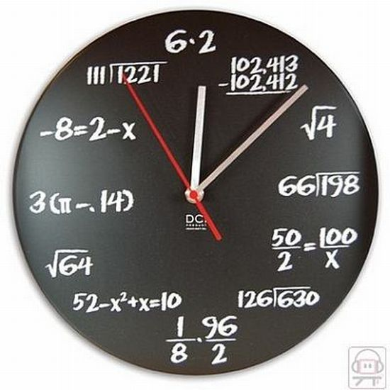 Most unusual and interesting wall clocks : Hometone Math Genius wall clock  Haha