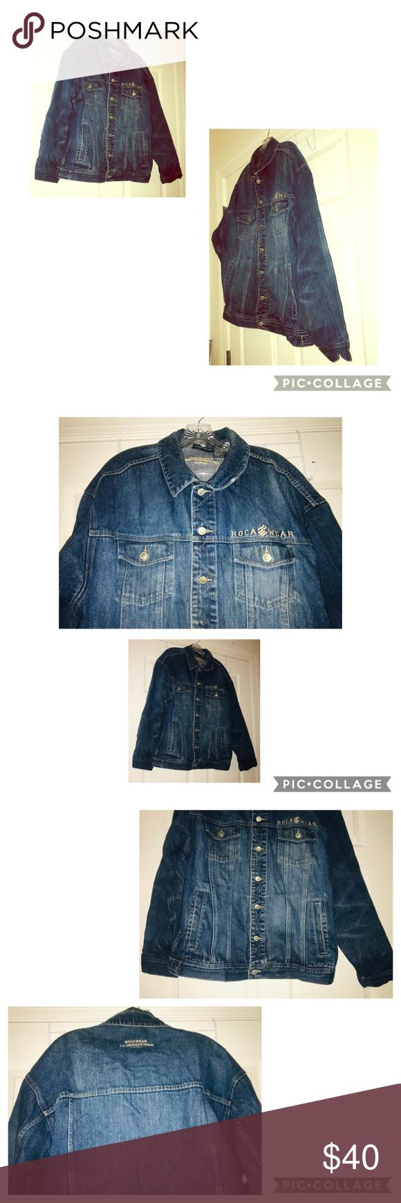 Denim Jean Vtg 90s Jacket Men S Size L Clothes Design Fashion Mens Jackets [ 1740 x 580 Pixel ]