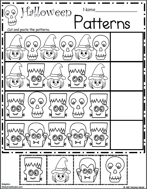 Halloween Pattern Worksheet Madebyteachers Halloween Preschool Halloween Math Worksheets Halloween Kindergarten
