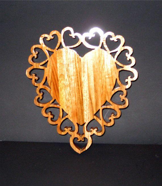 Valentine Heart Candle Trivet by WoodenKeepsakes on Etsy, $12.99