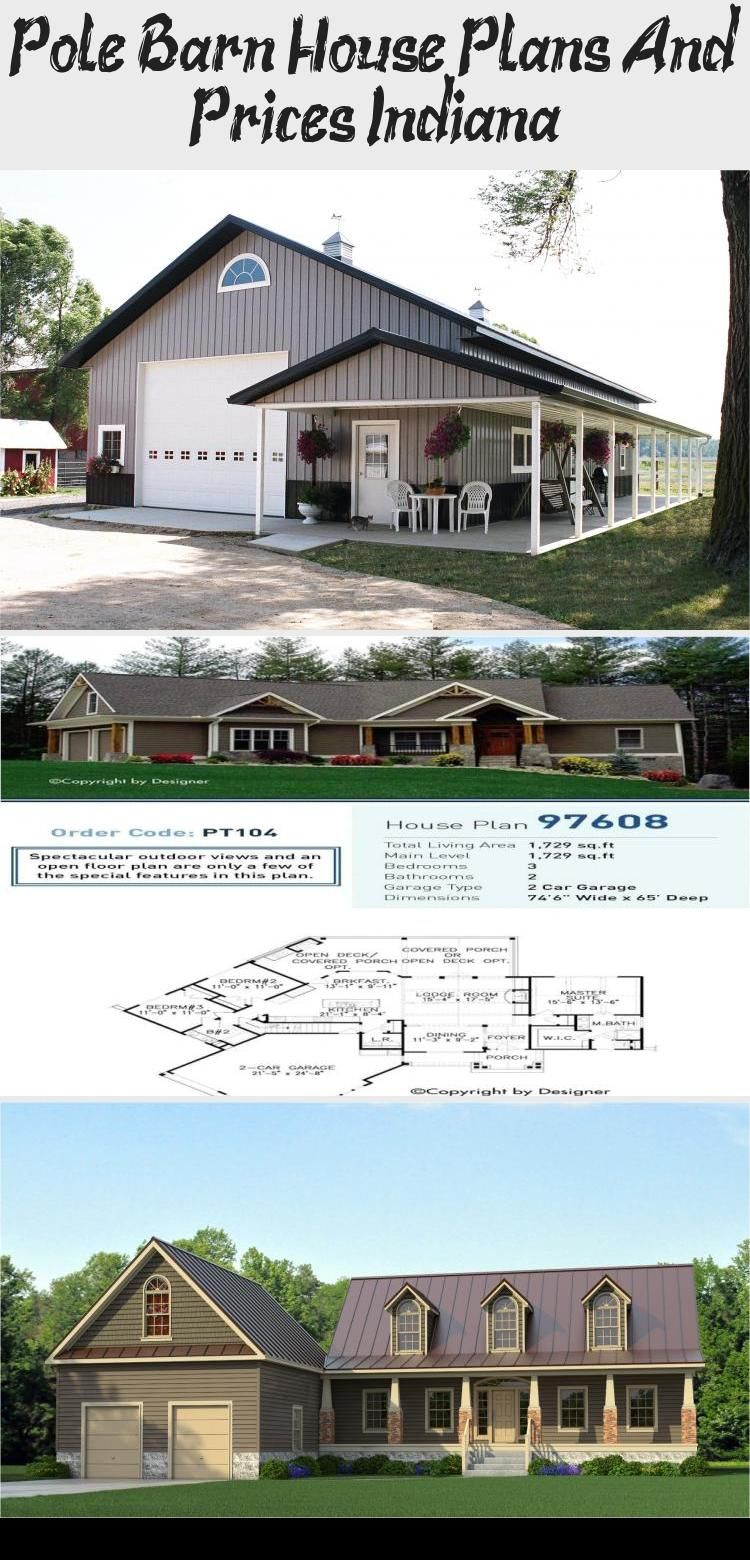 Pole Barn House Plans And Prices Indiana #polebarnhouses
