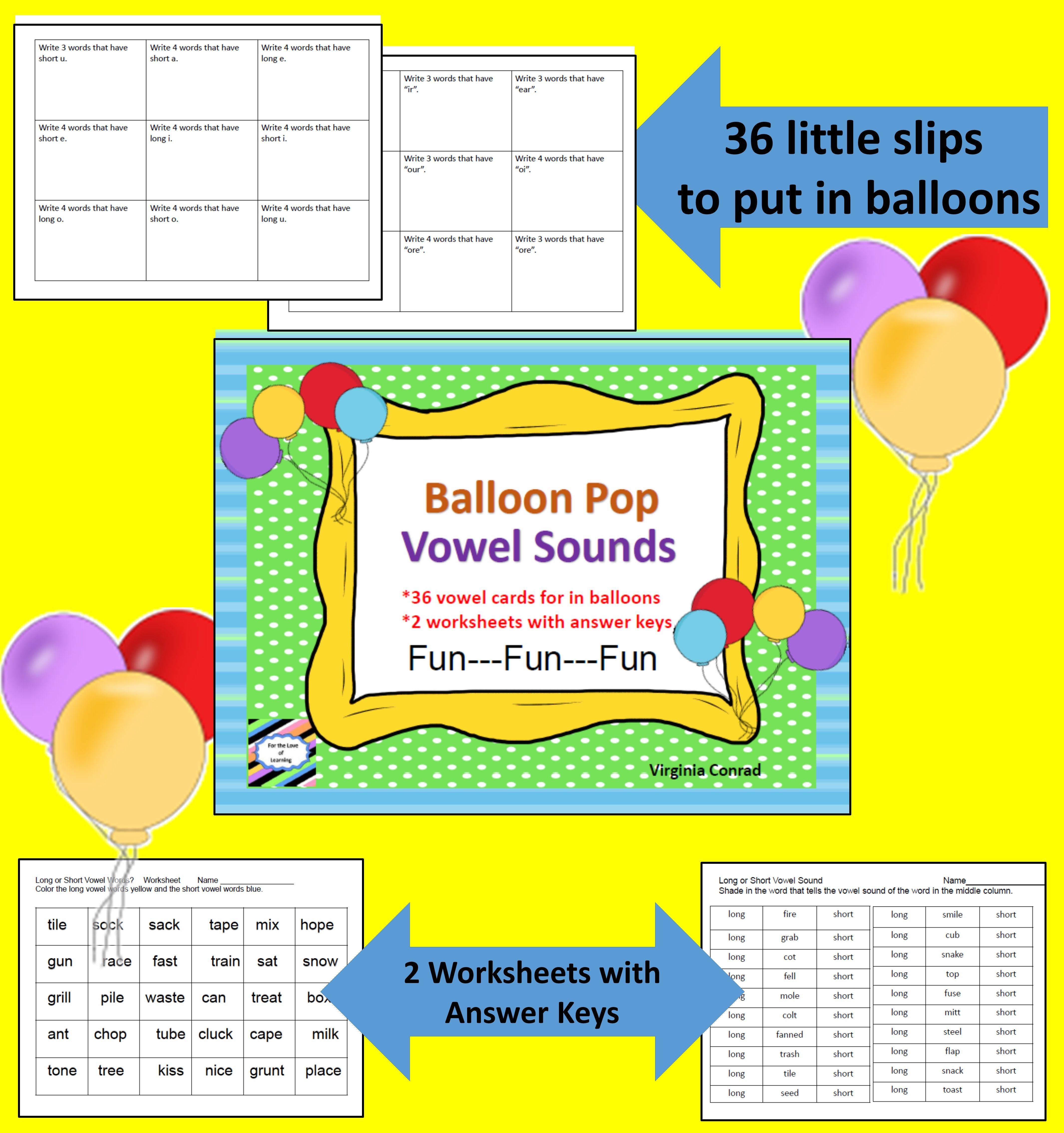 Vowel Sounds Balloon Pop