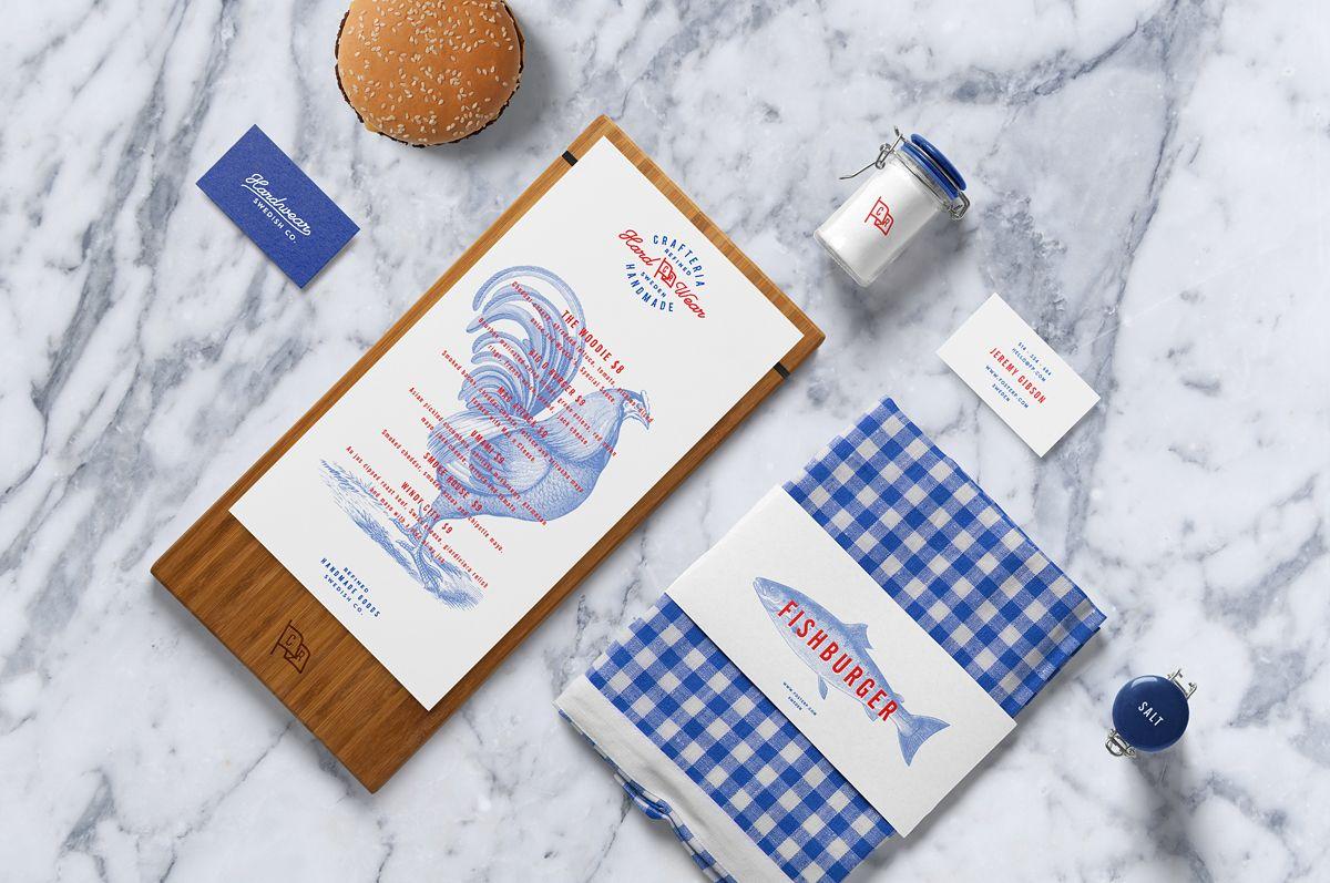 Burger bar psd mockup on behance freebies pinterest for Food bar mockup