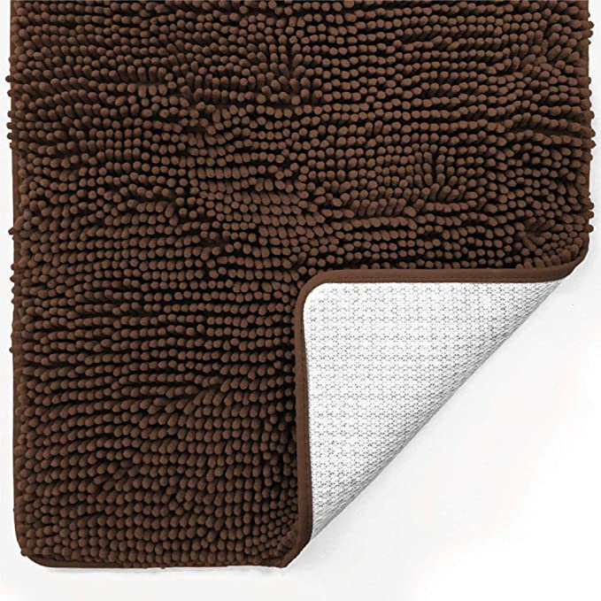 Amazon Com Gorilla Grip Original Luxury Chenille Bathroom Rug Mat 70x24 Extra Soft And Absorbent Shaggy Ru In 2021 Chenille Bathroom Rugs Bathroom Rugs Plush Carpet