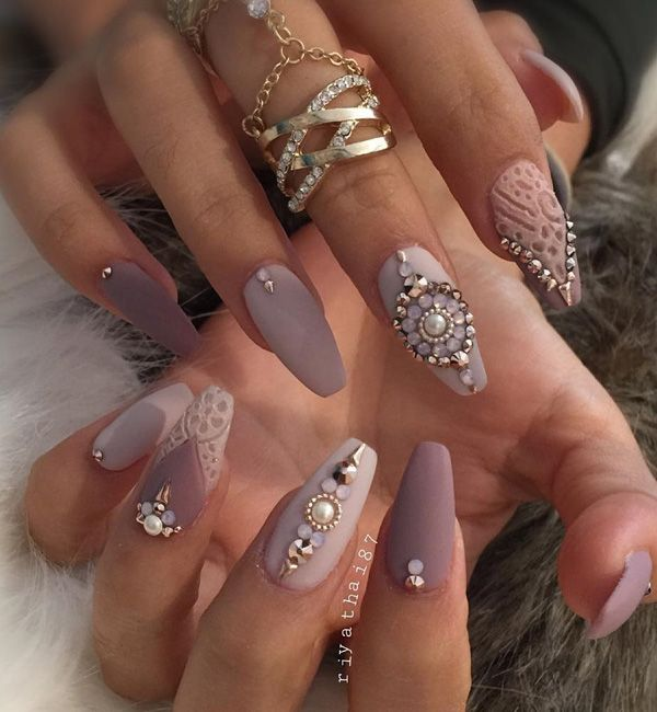 50 Rhinestone Nail Art Ideas - 50 Rhinestone Nail Art Ideas Earthy, Continue Reading And Manicure