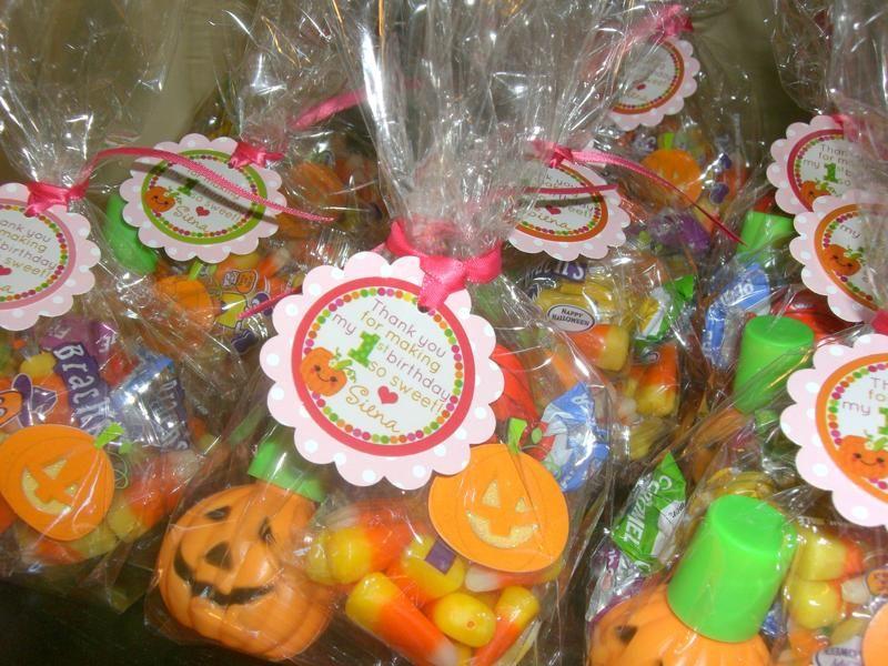 Pumpkin Party Week: favors