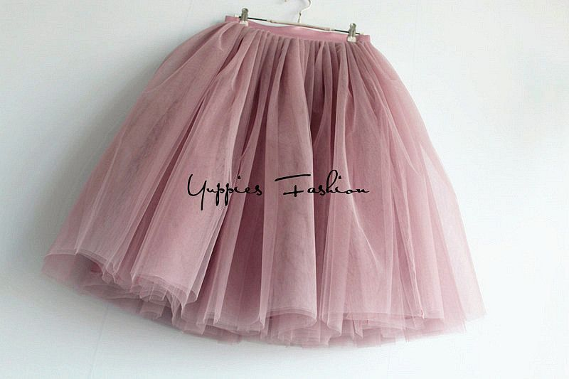 a256004e78 [Hidden Zipper] Fashion 7 Layers Tutu Tulle Skirts Womens High Waist Summer  Skirt Adult Pleated Skirt Lolita faldas saias jupe - MISS LADIES