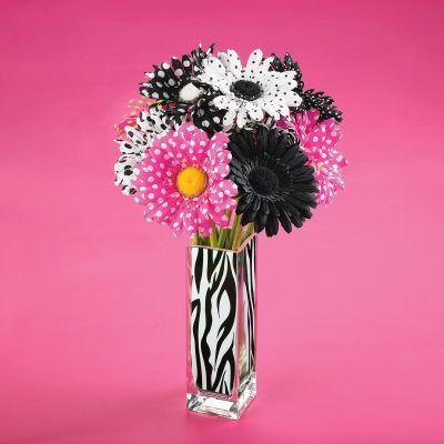 Zebra Vase Trend Stem Arrangement Home Decor Pinterest Craft