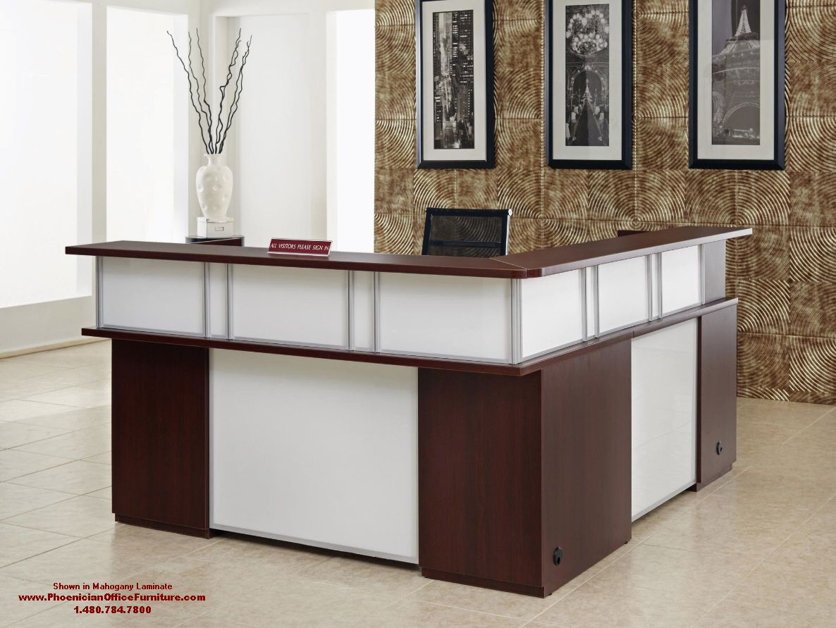 Small L Shaped Reception Desk Office Furniture Right Or Left Return In 6 Colors Office Reception Table Design Reception Desk Office Counter Design