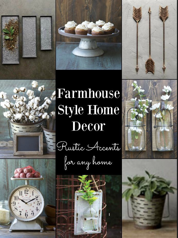 Cheap Farmhouse Style Decor Galvanized Metal and Cotton Stems