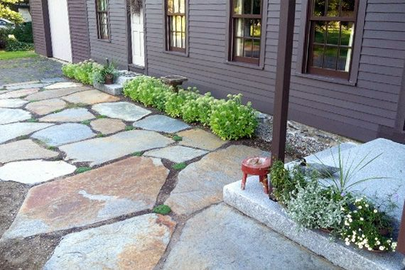 7 walkway ideas to pump up your curb appeal walkways that talk - Flagstone Walkway Design Ideas