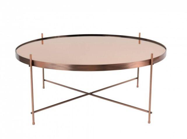 Le Rose Gold C Est Tendance Elle Decoration Table Basse Verre Table Basse En Cuivre Table Basse Metal