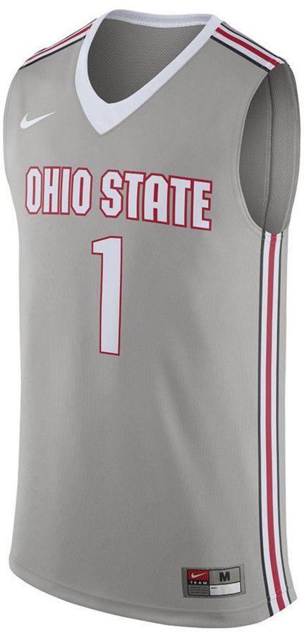 4b358952907e Nike Men s Ohio State Buckeyes Replica Basketball Jersey