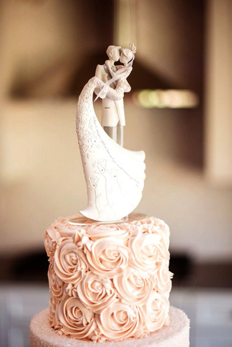 Bride and Groom wedding cake topper   itakeyou.co.uk