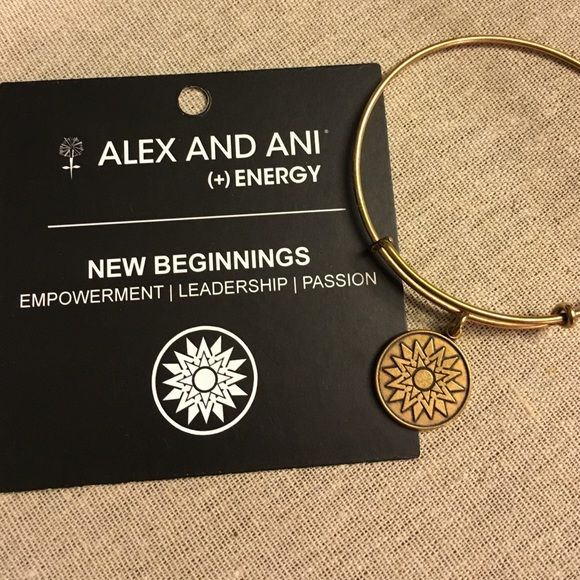 22e14a495677a Alex and Ani New Beginnings bangle Gold finish. Great condition ...