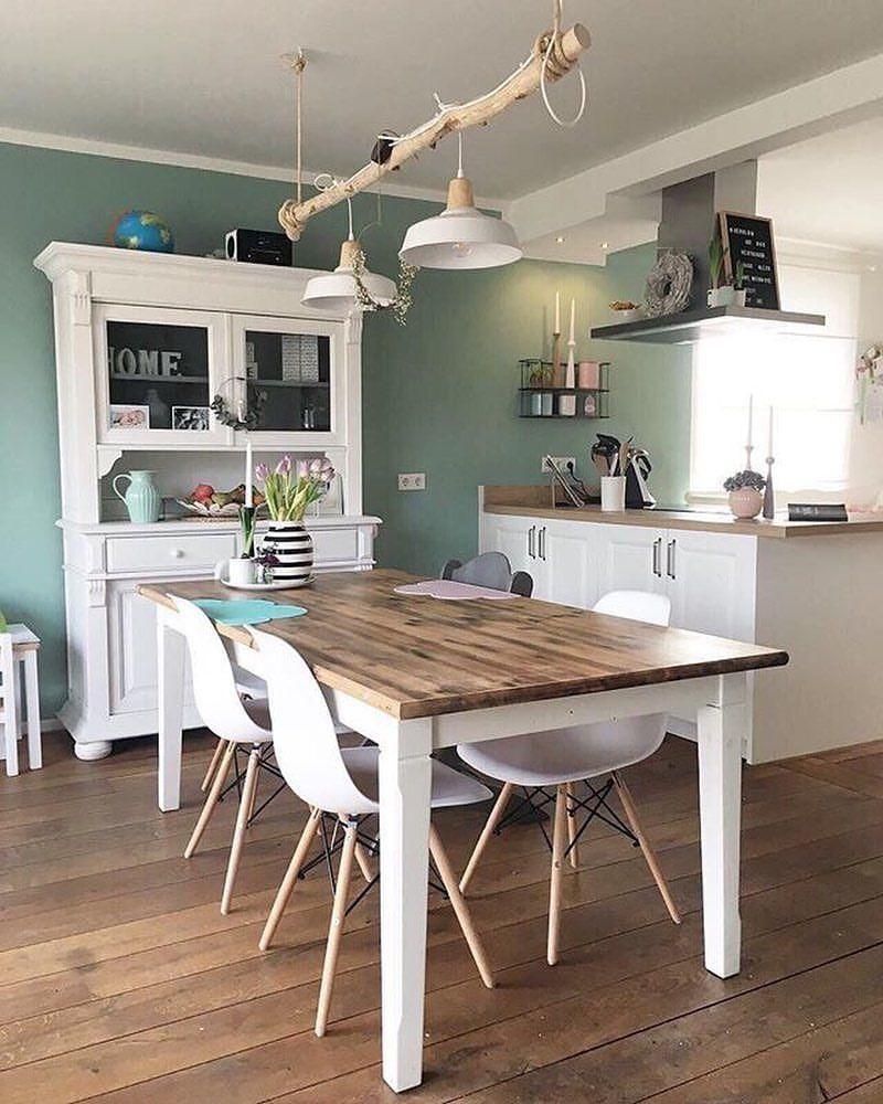 Wir Lieben Die Grüne Wand In Der Küche Von