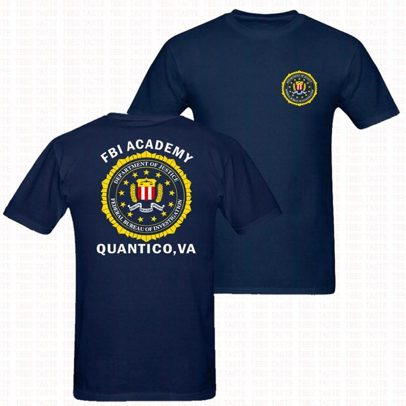 Fbi Academy Quantico Va United States Department Of Justice T Shirt Mens Us Size Two Sided Printing Mens Shirts Justice Tshirts Quantico