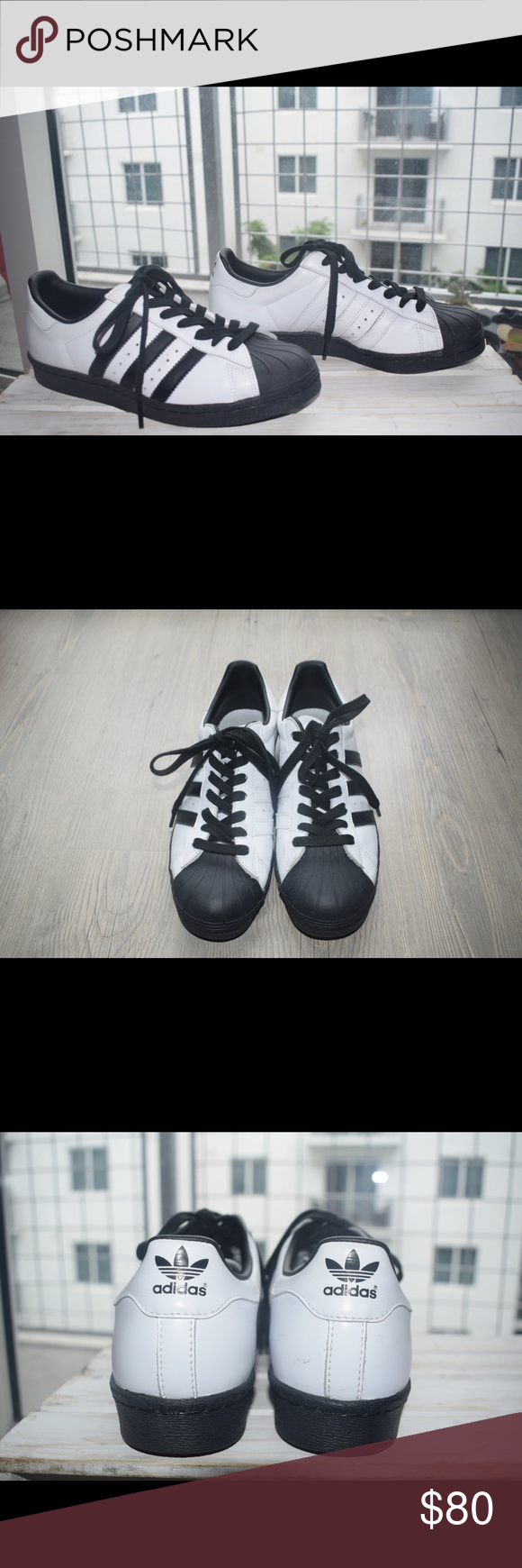Custom adidas superstar zapatilla negro Toe, Adidas Superstar y