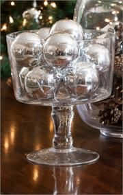 Trifle Bowl Decorations Trifle Bowl Filled With Ornaments  Table Decoration  Pinterest