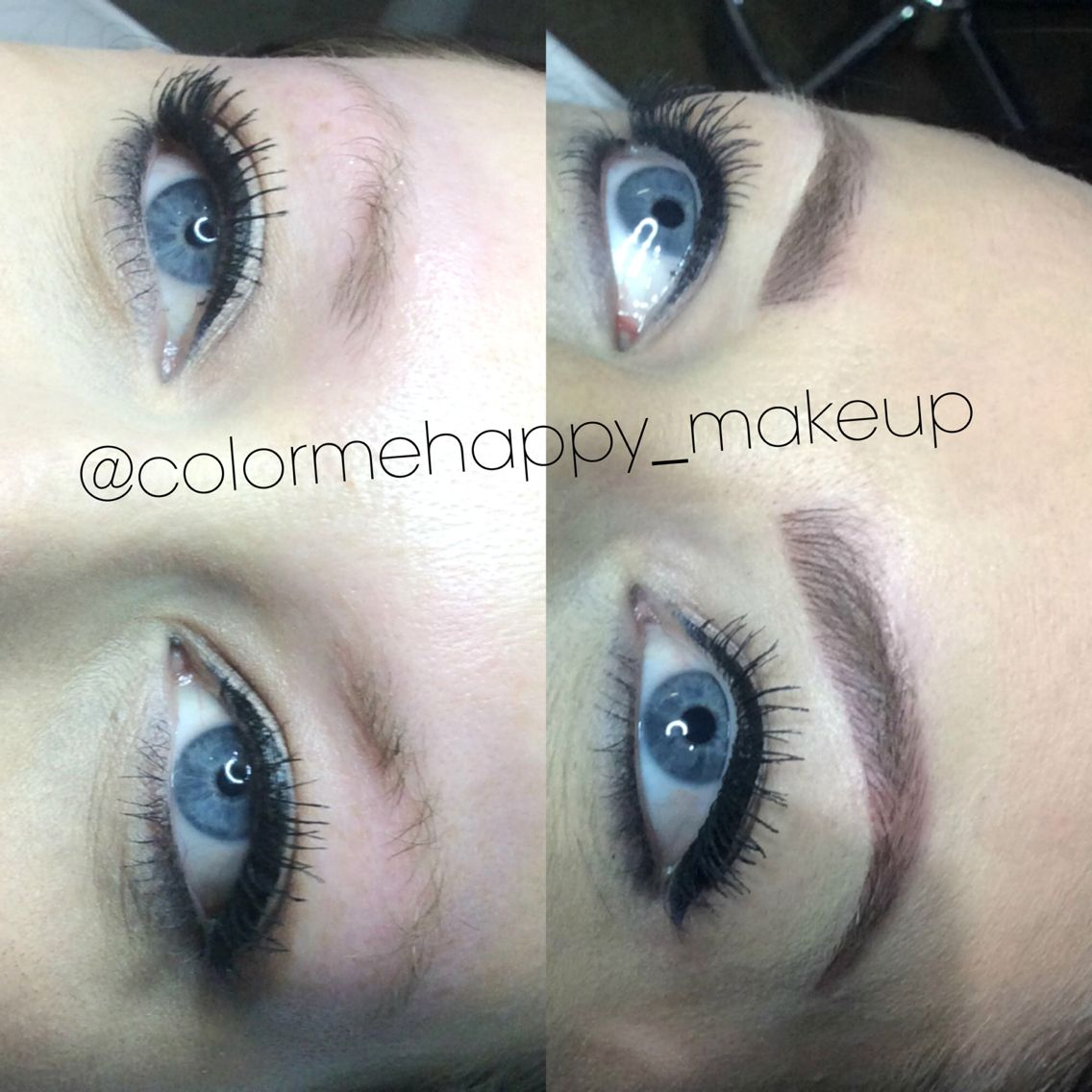 Hair stroke feather touch micro blade tattooed eyebrows | makeup ...