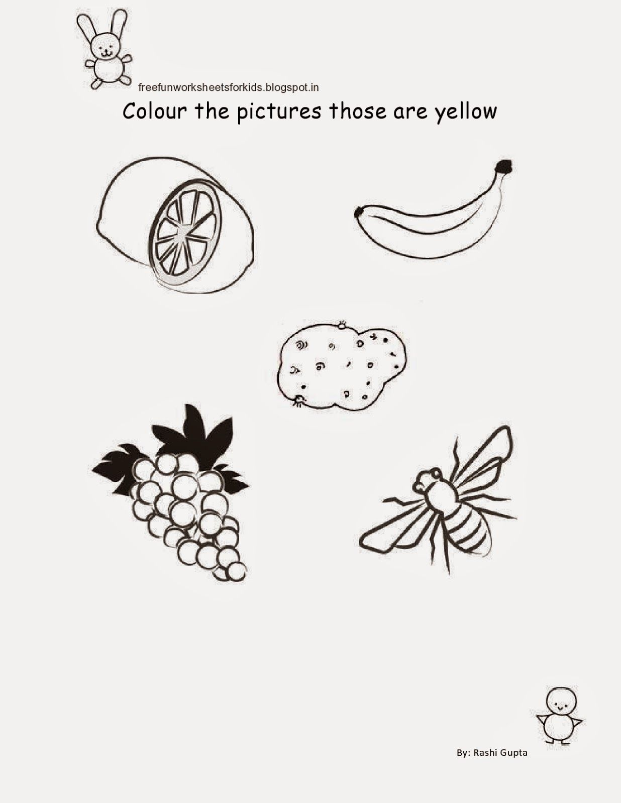 Free Printable Fun Worksheets For Class Nursery