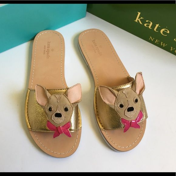 cd5fadcd7b67 Kate Spade Woman s Isadore Size 7.5 (New) Kate Spade Woman s Isadore Size  7.5 (New) never been worn very nice sandals with chihuahua-inspired design  on the ...