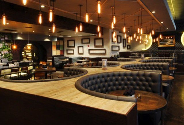 The Coolest Bars And Restaurants In Town Bar Design Restaurant Restaurant Booth Seating Restaurant Interior Design