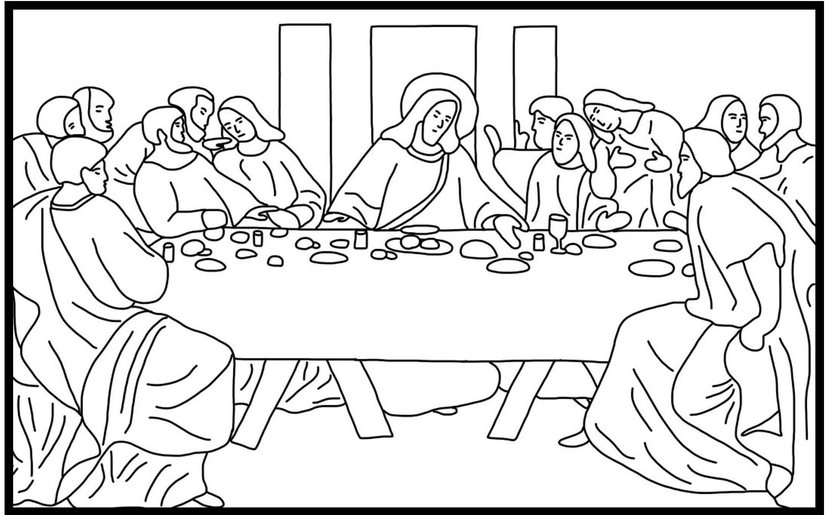 the last supper coloring page # 14