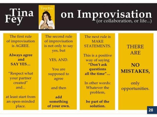 tina fey improv rules - Google-Suche | Quotes | Teaching