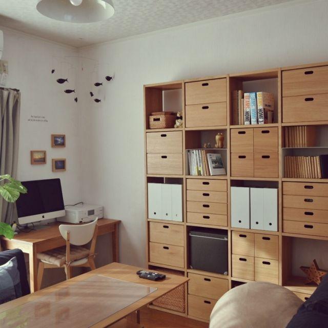 Oboro-tofuさんの、部屋全体,無印良品,IKEA,書斎,