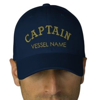 89967749ee Personalised Boat Name Captain Hat Embroidered Hats
