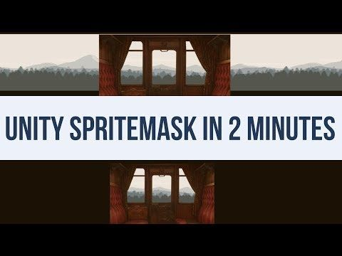 How to use the Unity3D 2017 SpriteMask for transparent