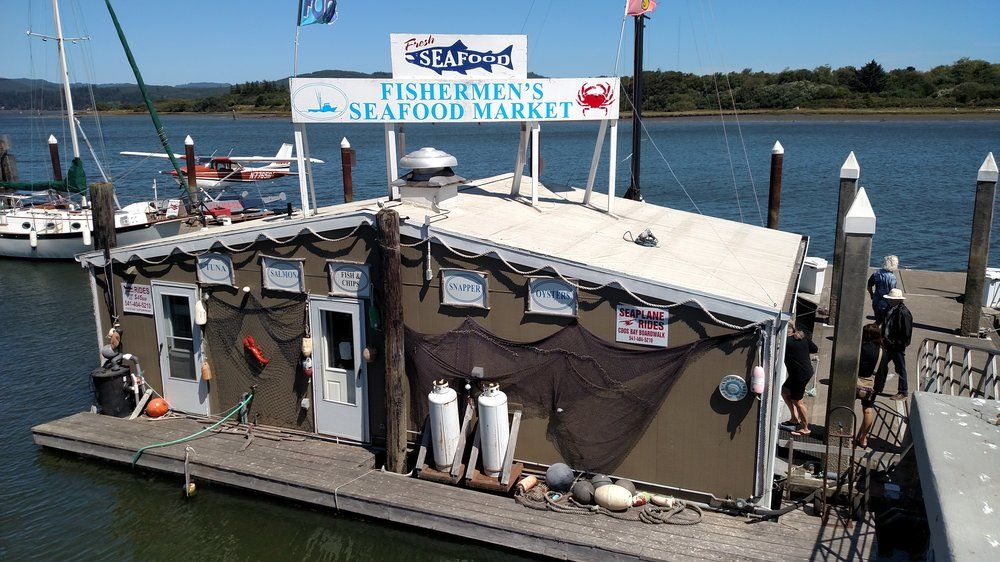 Fishermens Seafood Market Coos Bay Or United States Down On