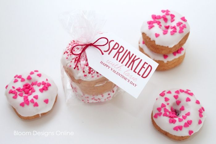 Sprinkled Donuts for Valentines