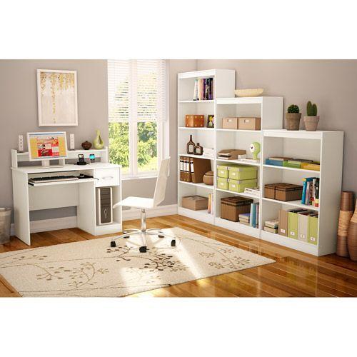 South Shore Smart Basics Small Desk, Pure White