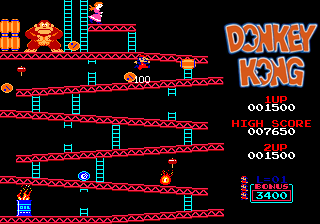 Classic Donkey Kong - CLICK PHOTO TO PLAY ONLINE FOR FREE